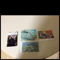 les cartes postales de pop et de Julia